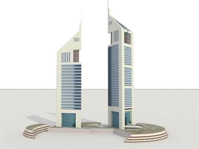 emirates towers 3D
