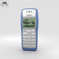 nokia 1100 blue 3D model