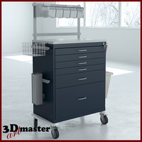 anesthesia workstation tall drawer 3D model