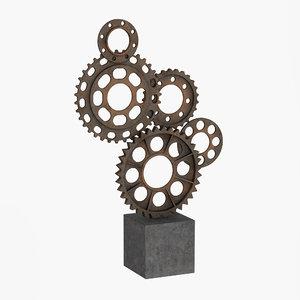 dialma brown sculpture 3D model