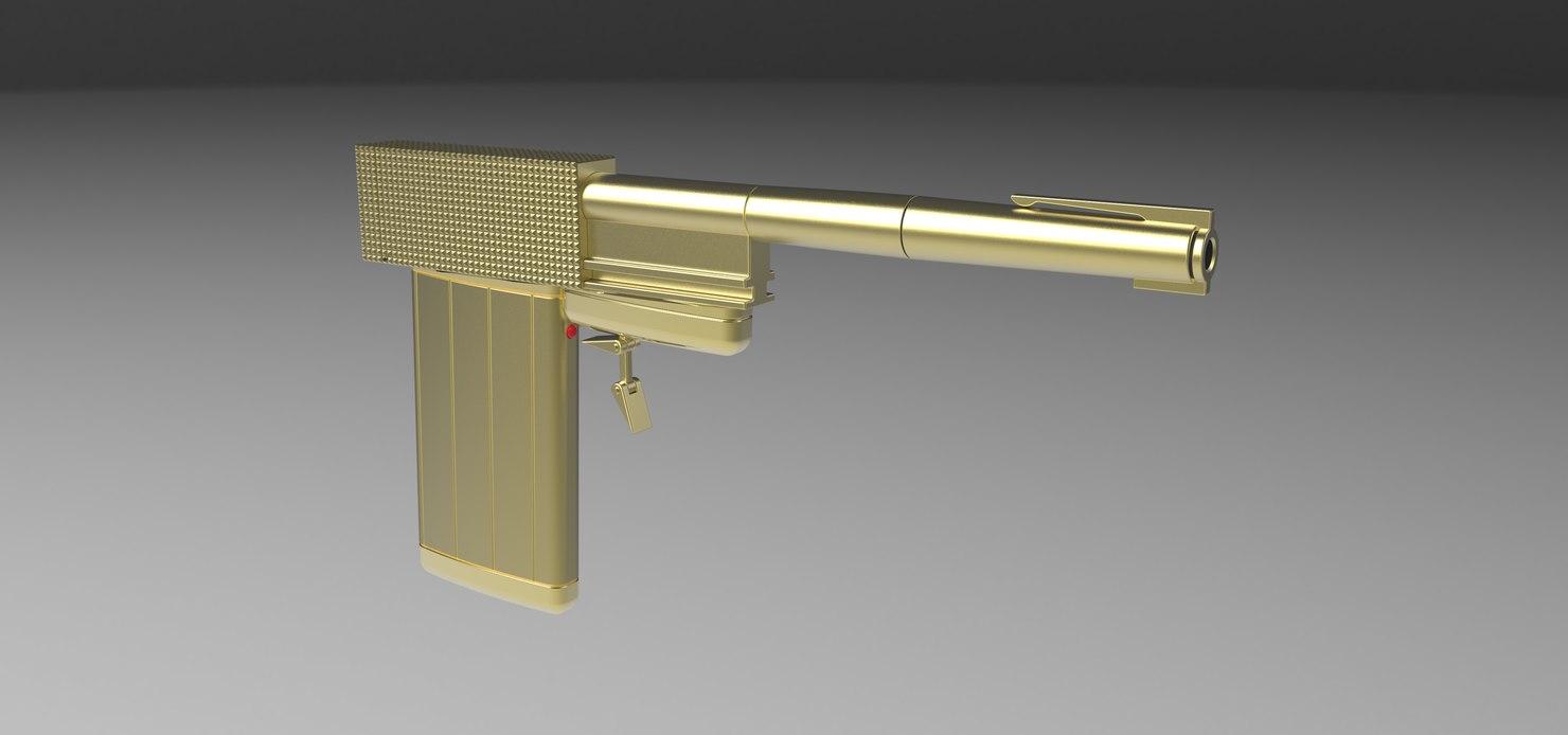 3D model golden gun