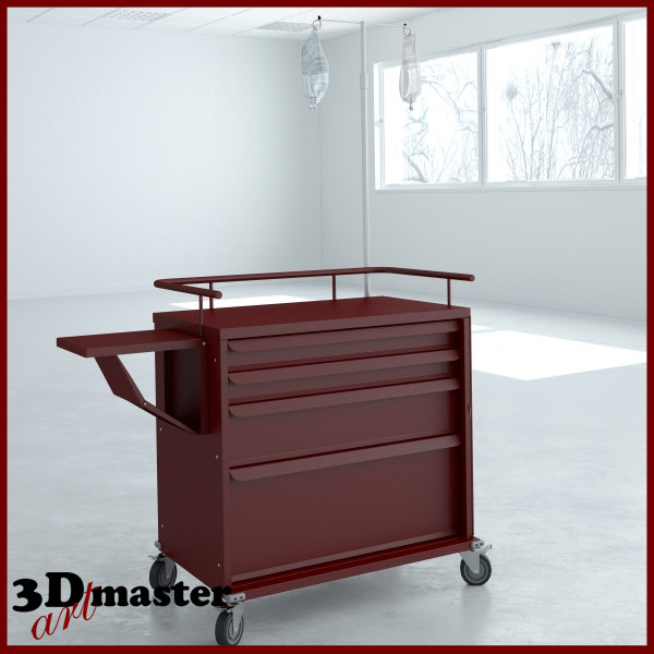 3D emergency cart drawer accessory