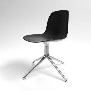 interior normann form swivel chair 3D model