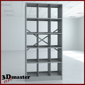 3D assembled techno-lite x-ray file cabinet