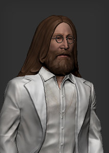 john lennon beatles 3D model