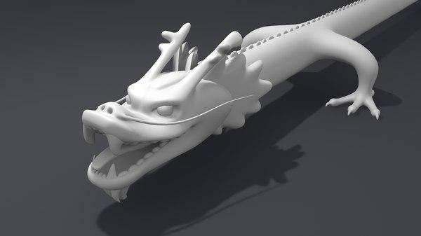 3D model drago dragon