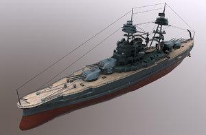 3D uss arizona battleship
