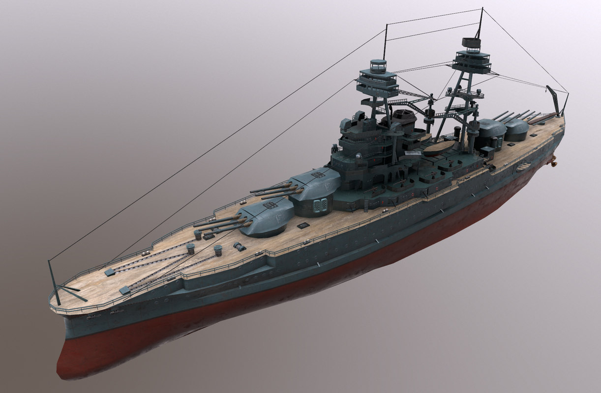 3D uss arizona battleship