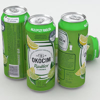 3D model beer okocim radler