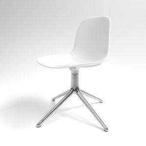 3D interior normann form swivel chair
