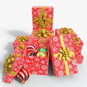 3D model giftbox toy box 02