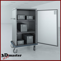 3D surgical case cart -