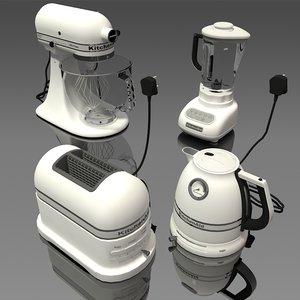 3D white appliance