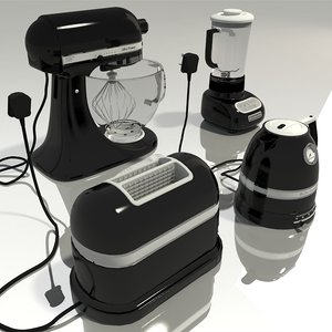 black appliance 3D