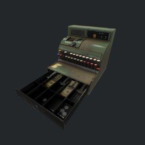 3D cash register pbr model