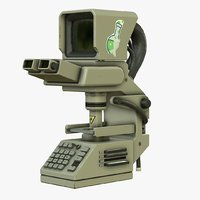 sci-fi microscope model