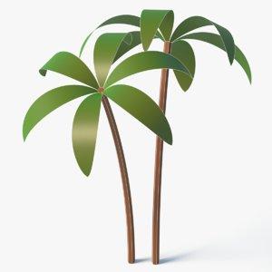 3D model cartoon palm