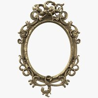 Baroque Oval Mirror Frame