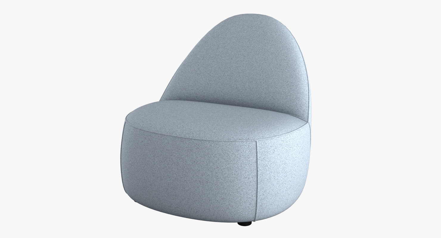 Merveilleux 3D Model Mitt Lounge Chair