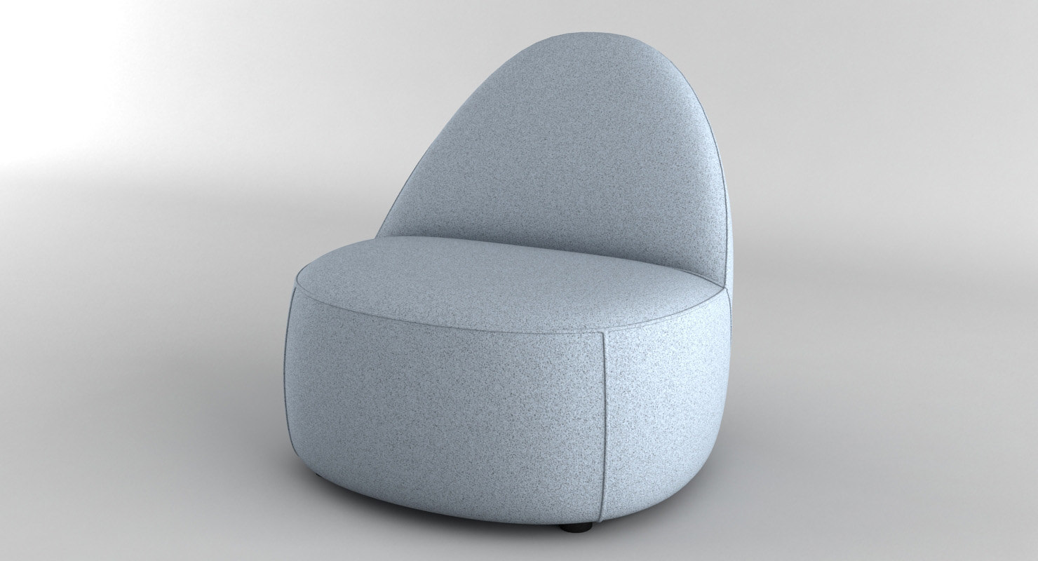 Merveilleux ... 3D Model Mitt Lounge Chair ...
