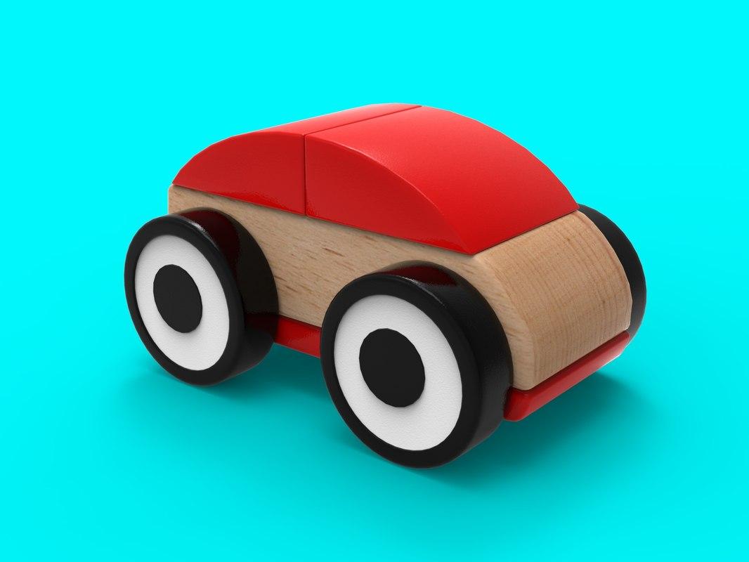 3D model ikea car toy