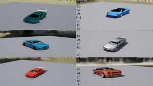 advanced race car pack 1 3D model