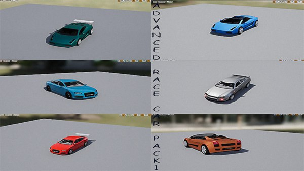 advanced race car pack 1 3D model