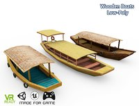 3D optimized wooden boats model