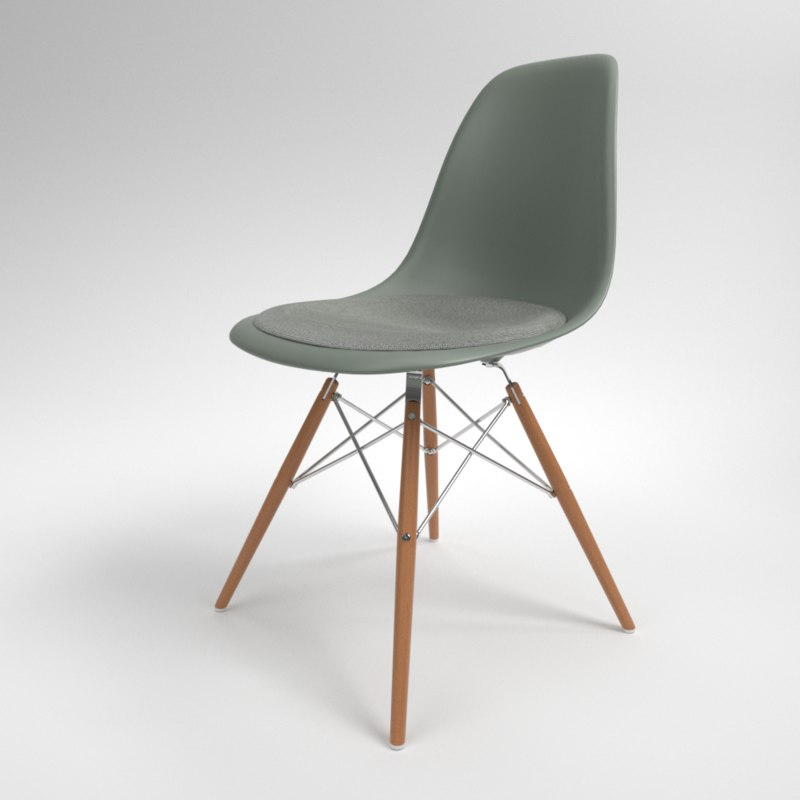 interior vitra eames plastic chair model
