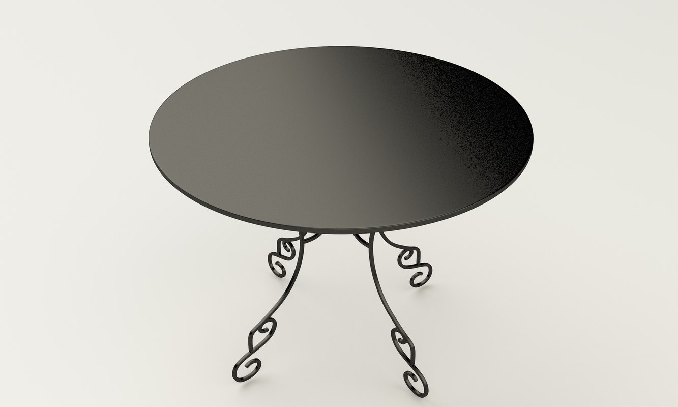wrought iron table model