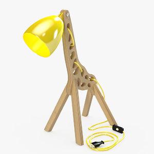 3D model giraffe lamp