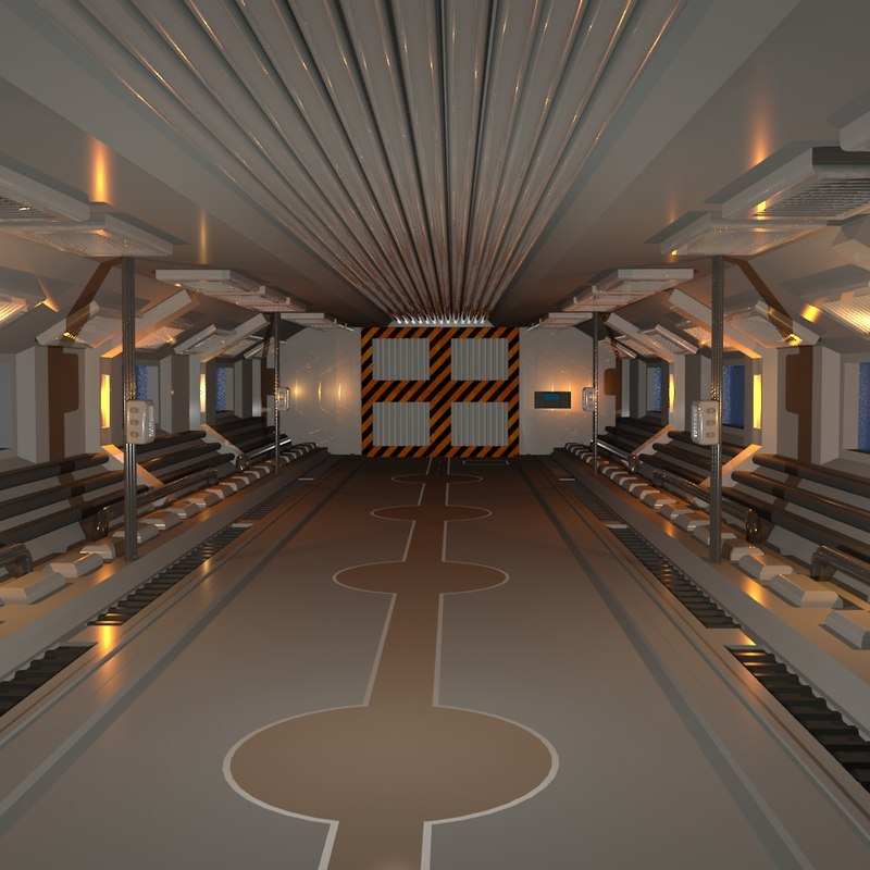 sc-fi corridor 3D model