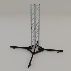 3D square stand model