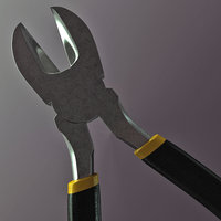 diagonal pliers 3D model