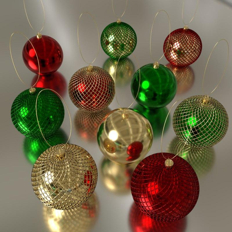 christmas decorations 3D