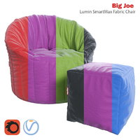 Big Joe Lumin SmartMax Fabric Chair and ottoman