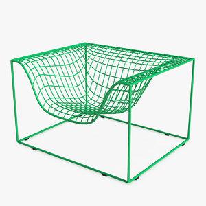grid arm chair 3D model
