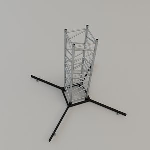 square stand 3D model