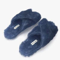 3D shoes fur blue model