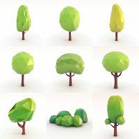 trees set 3D