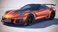 3D chevrolet corvette zr1 model
