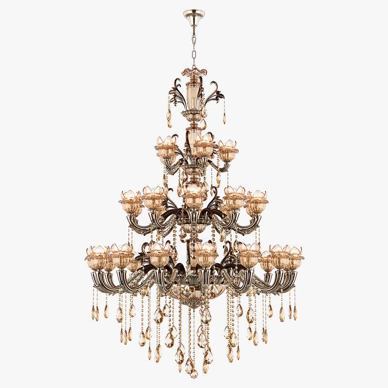 3D model chandelier md 89360-34 osgona