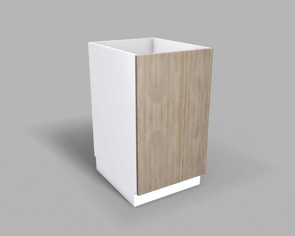 3D kitchen base cabinet 50 model