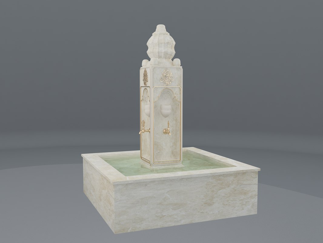 medieval water fountain islamic 3D model