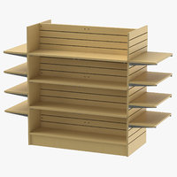 3D slat wall gondolas shelves