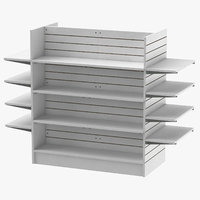 3D slat wall gondolas shelves model