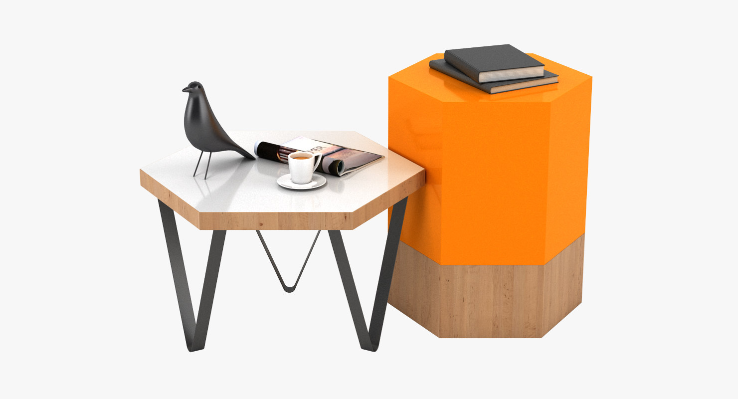 table realistic 3D model