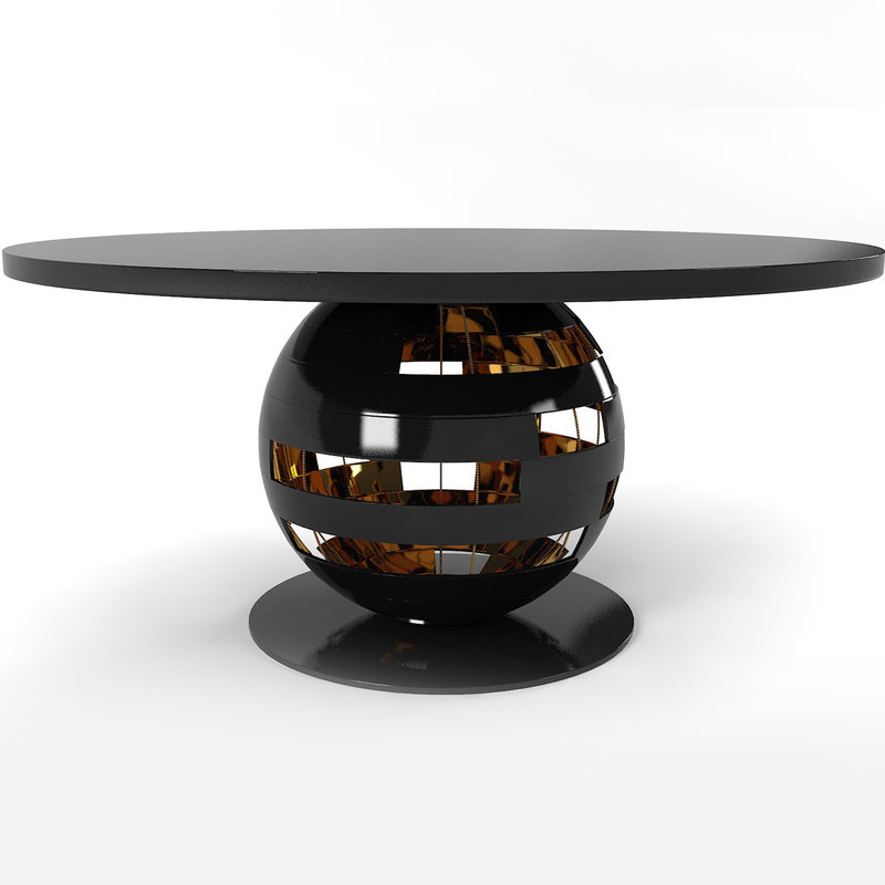 designer dining table model