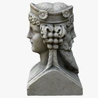3D model head bust