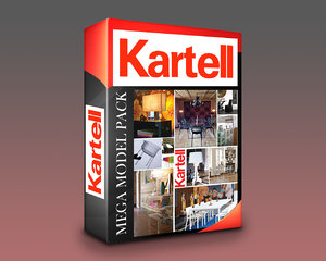 3D kartell products mega pack